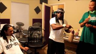 Playmaka kills Freestyle in Studio with Zak Valentine & Dollah Dae