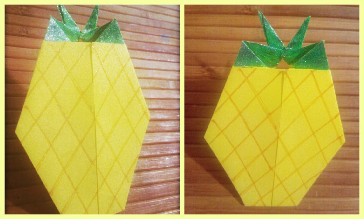 How To Make Origami Pineapple Fruits Of Origami Origami Paper For