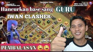 PEMBALASAN..!!!! Hajar base sang GURU IWAN CLASHER dengan Quen walk miner | clash of clans indo