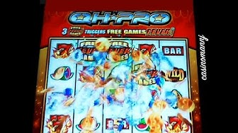 Quick Hit Pro Slot - **NEW** - MAX BET! - Locking Wilds Bonus - Slot Machine Bonus