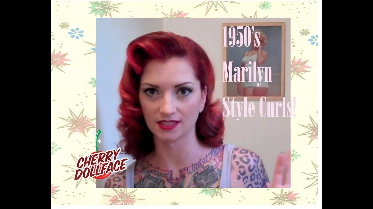 vintage 1950's curly hair tutorial