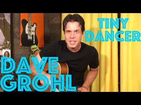 Guitar Lesson: How To Play Tiny Dancer Like Dave Grohl Did On The Late Late Show
