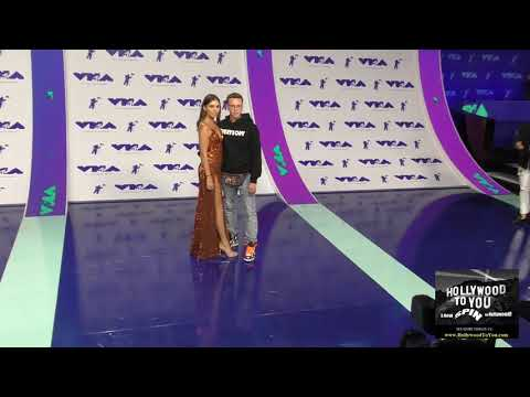 Logic and Jessica Andrea at the 2017 MTV Video Music Awards at The Forum in Los Angeles