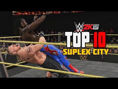 WWE 2K15 - Top 10 Extreme SUPLEX CITY!!