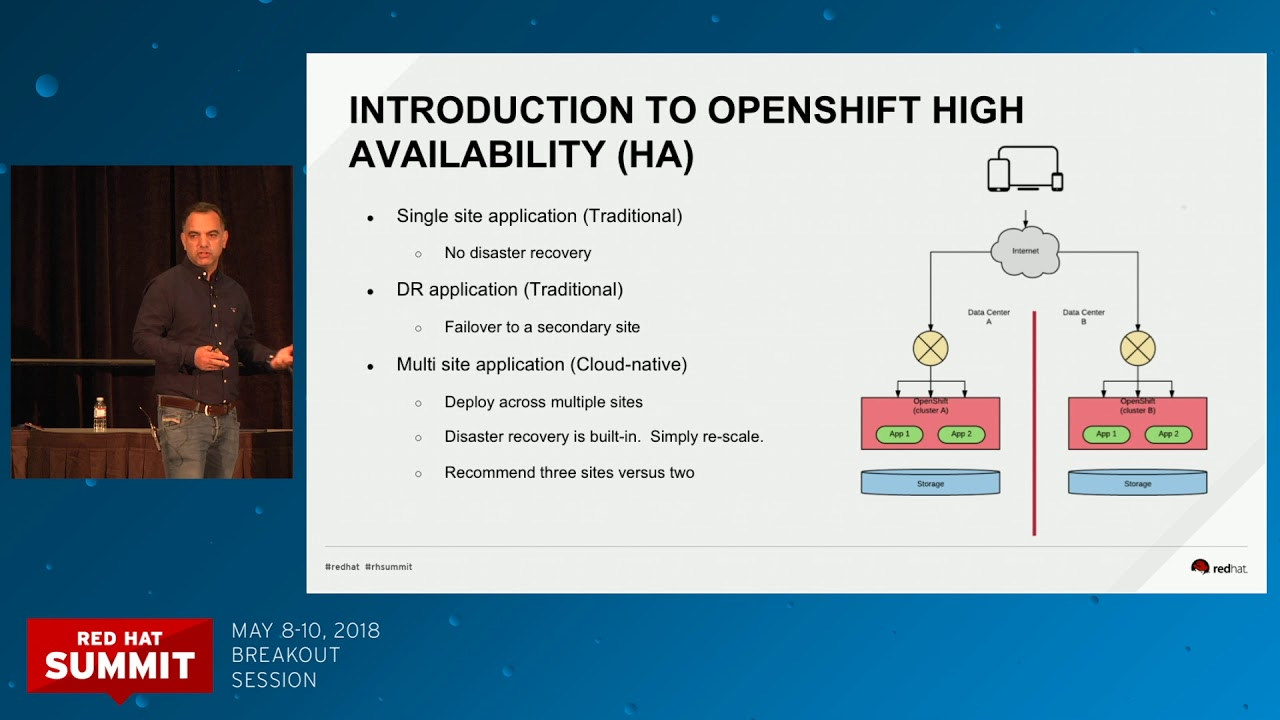 Best practices for OpenShift high-availability deployment field experience