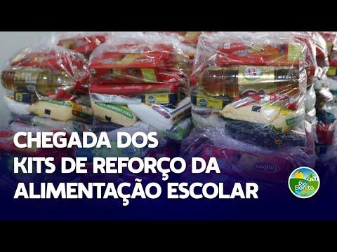 CHEGADA DOS KITS DE REFORÇO DA ALIMENTAÇÃO ESCOLAR