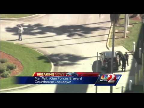Gunman causes lockdown at Brevard Courthouse