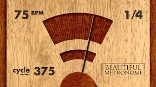 Download 75 BPM 1/4 Wood Metronome HD MP3 song and Music Video