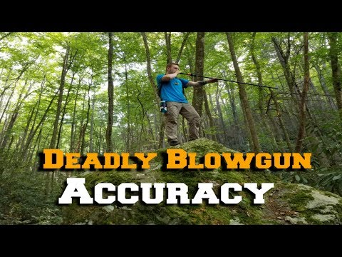 How To Aim And Shoot A Blowgun Properly! :Coldsteel Blowguns
