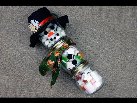Снеговик из конфет своими руками мастер класс
