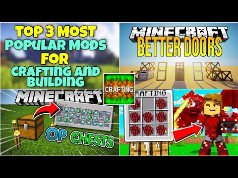 Top 3 Most Popular Mods For Crafting And Building And Minecraft PE | Without Zarchiver