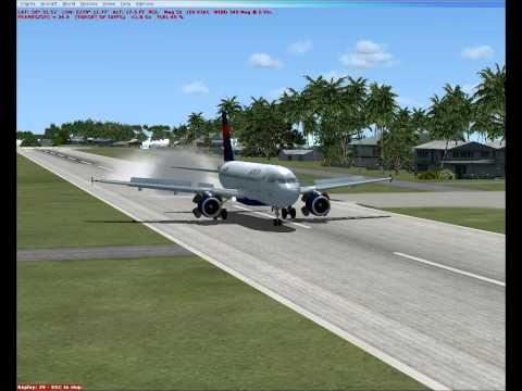 FSX - Airbus A-319 (Justflight) landing at Funafuti Airport (NGFU), Tuvalu - 1