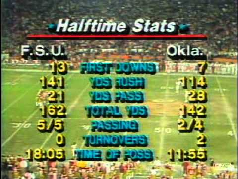 #4 Oklahoma Vs. #2 Florida State - 1981 Orange Bowl