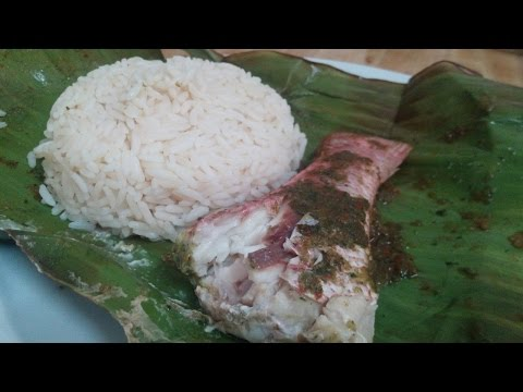 How To Make Steamed Fish🐟 In Banana Leaf