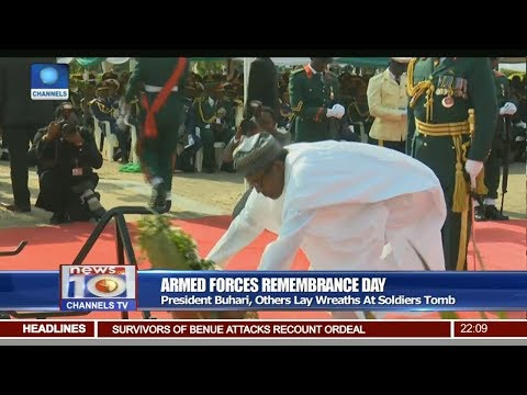 President Buhari, Others Lay Wreaths At Soldiers Tomb Pt 1 | News@10 |