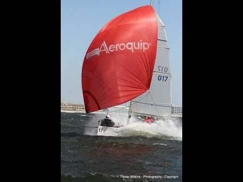 Sports boat blast reaching at 19 knots offshore Cape Town