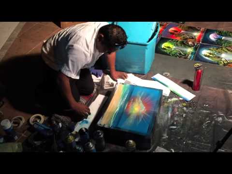 Mexican Merchant Makes Incredible Art Using Only Spray Paint
