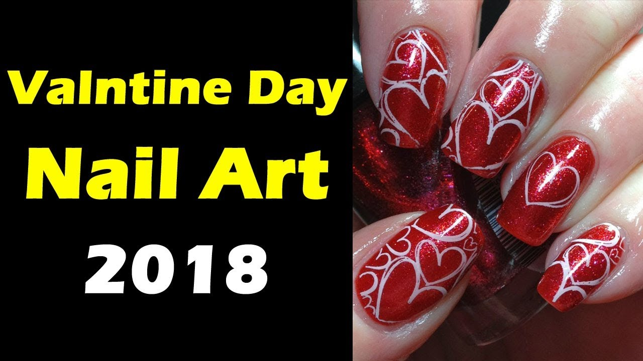 2017 New Valentine S Day Nail Art Designs 2018 1000 Ideas About