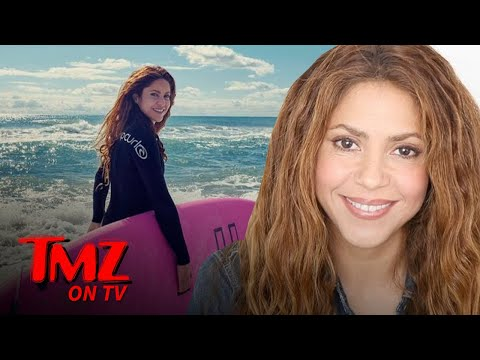 Shakira Puts On A Wetsuit And Surfs It Up! | TMZ TV