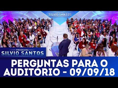 Perguntas para o auditório | Programa Silvio Santos (09/09/18)