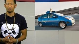 Googlicious - Google's Self-Driving cars take over city streets thumbnail