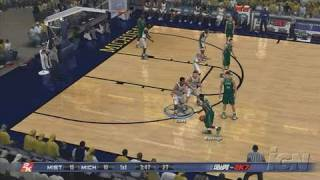 College Hoops 2K7 PlayStation 3 Gameplay - Michigan Vs.