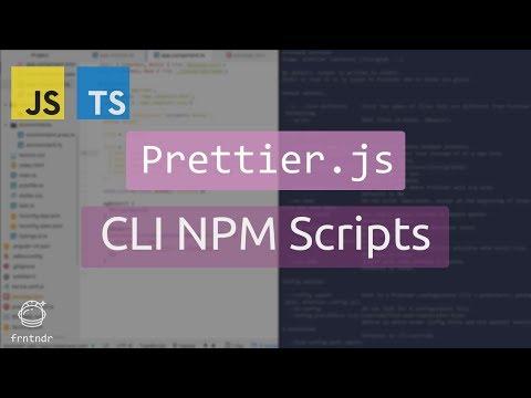 Prettier CLI in NPM Scripts
