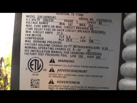 goodman air conditioning serial number lookup