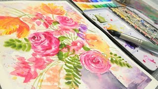 Paint Free! Loose Flowers Everyone Can Relax and Paint!