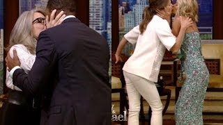 Diane Keaton Kisses Michael Strahan and Keri Russell Kisses Kelly Ripa