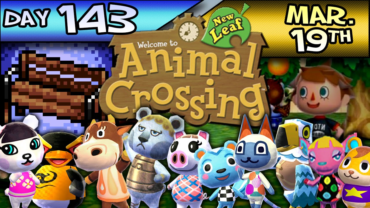 Animal Crossing New Leaf Day 143 Mar 19 Cow Tipper Youtube