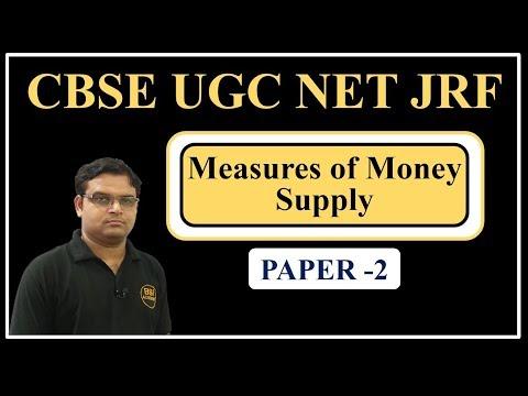 UGC NET JRF July 2018 || Economics, Commerce, Management Paper 2 - Measures of Money Supply
