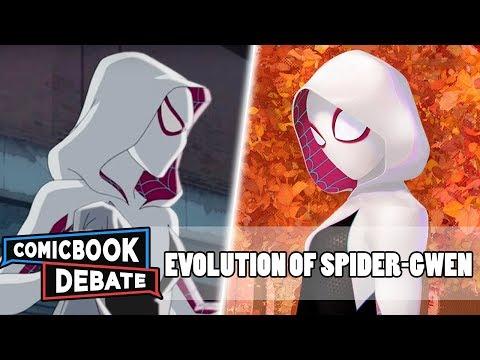 Evolution of Spider-Gwen in Cartoons in 4 Minutes (2019)