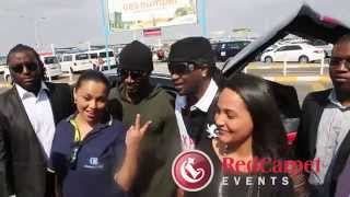 P Square arrival Windhoek, Namibia