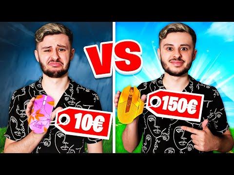 SOURIS à 10€ vs SOURIS à 150€ Challenge FORTNITE !