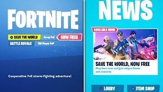 Fortnite Save The World GRATUIT RELEASE DATE!