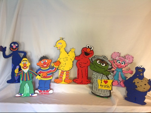 Cricut Machine Sesame Street Centerpieces