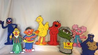 Cricut Machine Sesame Street Centerpieces