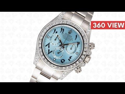 Rolex Daytona 18ct White Gold Diamond Set with Custom Indic Dial 116509 - Time4Diamonds