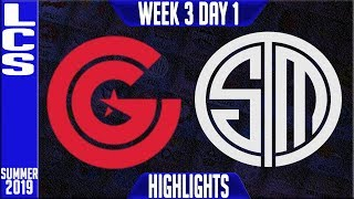 CG vs TSM Highlights   LCS Summer 2019 Week 3 Day 1   Clutch Gaming vs Team Solomid