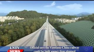 Lao NEWS on LNTV: Vientiane-China railway could be built sooner than planned.4/1/2016