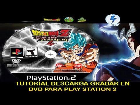 DRAGON BALL Z BUDOKAI TENKAICHI 3-4  TUTORIAL¡¡ ISO Descarga + Grabar en DVD para PS2