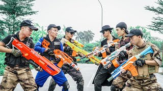 LTT-Nerf-War-Three-Police-Officers-SEAL-X-Warriors-Nerf-Guns-Fight-Criminal-Group-Dr-Mundo