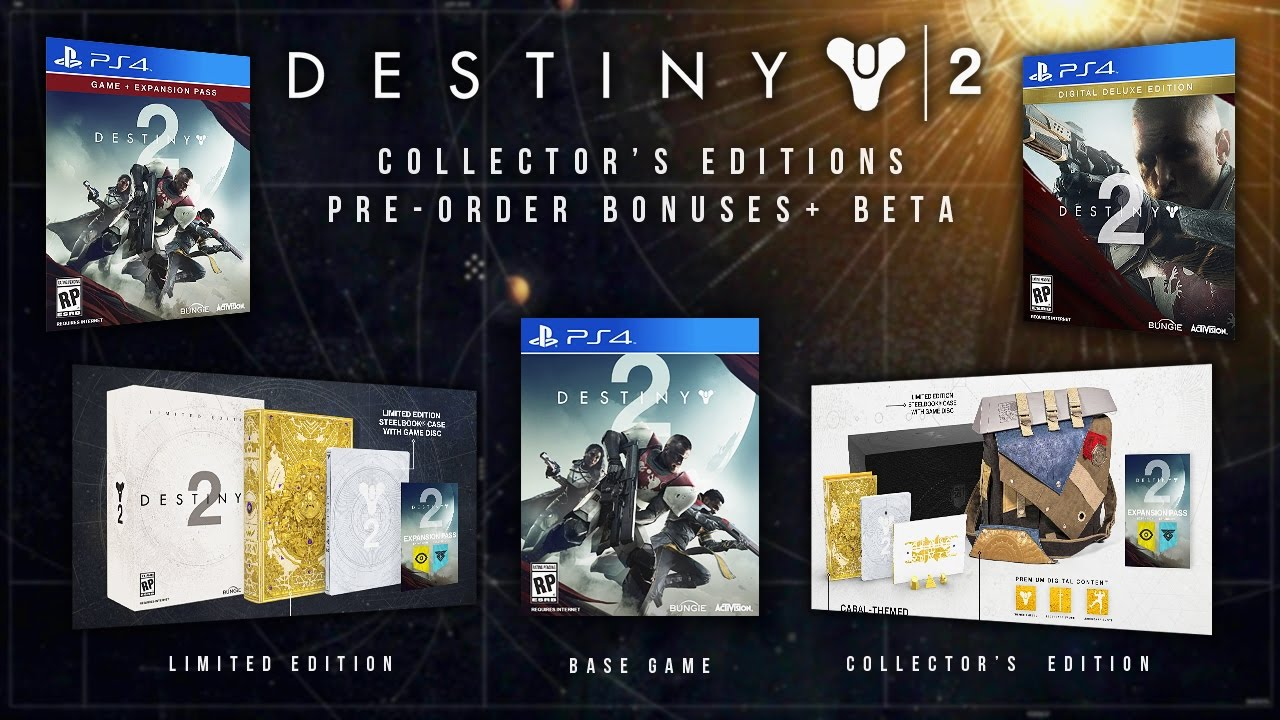 Destiny 2 collectors edition for sale - Destiny 2 Collector Editions Revealed Pre Order Bonuses Multiplayer Beta Dlc Exclusivity