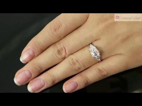 GIA 1 46CT Antique Vintage Art Deco Asscher Diamond Engagement Wedding Ring Platinum