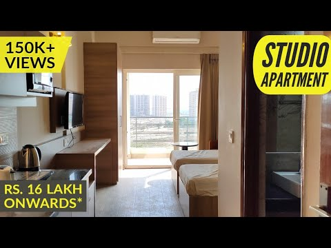 studio apartment tour/fully furnished suites/micro/investment in greater noida/start Rs. 16 lakh*