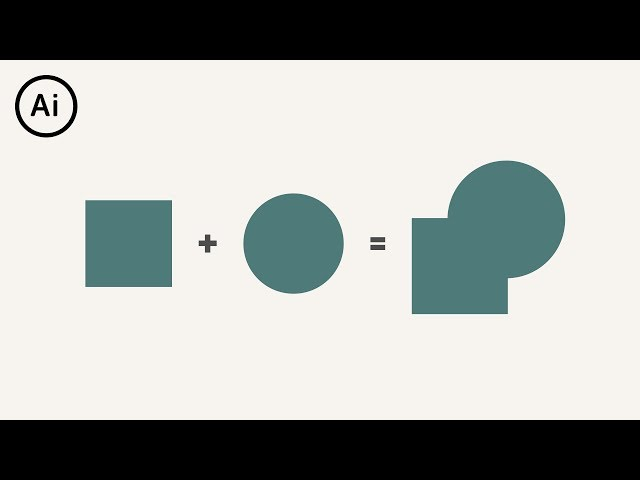 How to Merge Shapes | Illustrator Tutorial