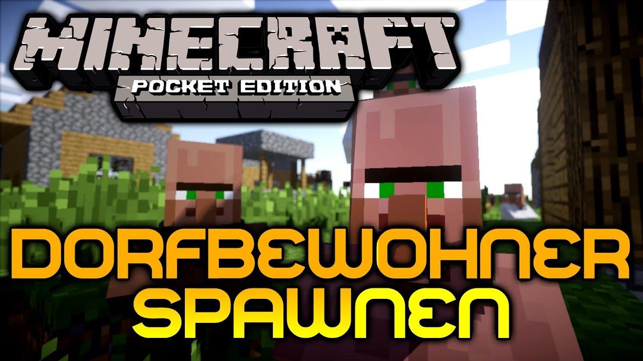 Android Minecraft PE NPC Villagers Mod Dorfbewohner Spawnen - Minecraft dorfbewohner bauen hauser mod