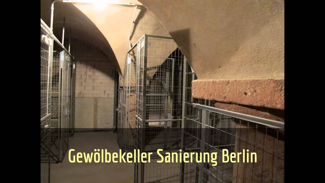 Gewölbekeller sanieren  Gewölbekeller sanieren Berlin | Kellersanierung - YouTube