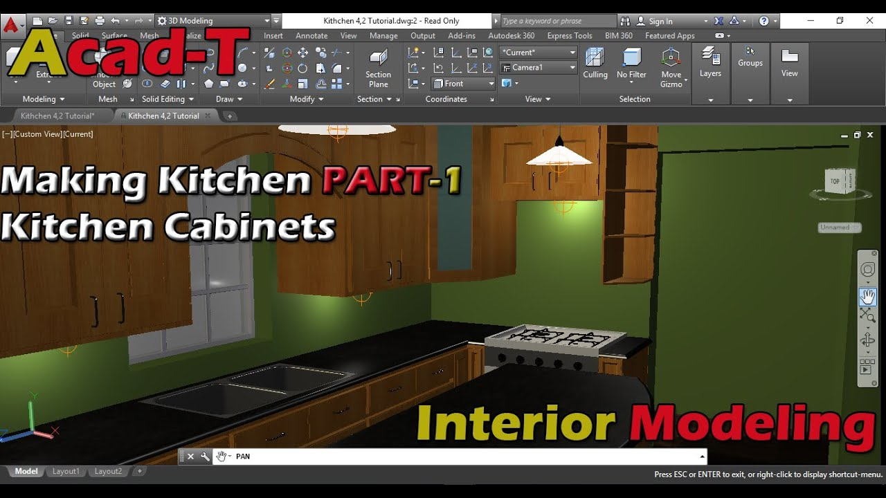 How To Make Kitchen In AutoCAD 2016
